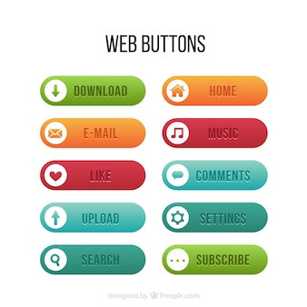 Rounded buttons for web pack