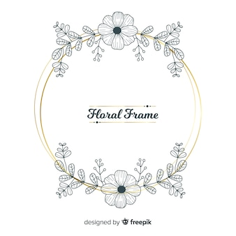 Rounded floral frame