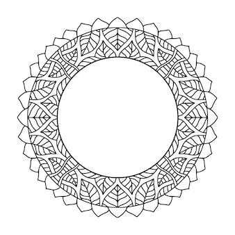Rounded frame. abstract background for cover decoration. ornamental circle frame