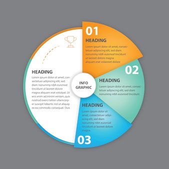 Rounded infographic template