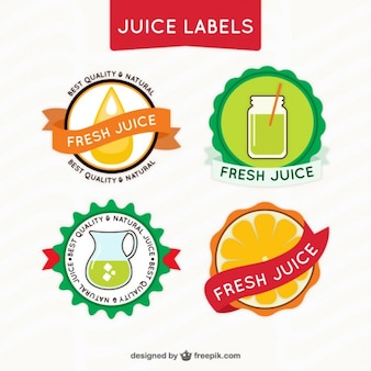 Rounded juice labels pack