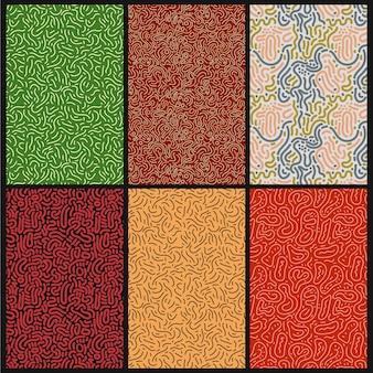Круглые линии абстрактный узор набор