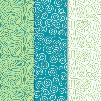 Rounded lines pattern collection