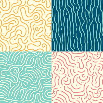 Rounded lines pattern set