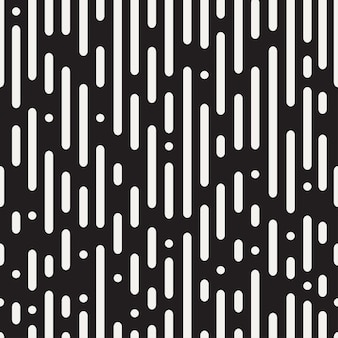 Rounded lines seamless pattern. black and white abstract background. vector illustration.
