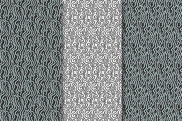 Rounded lines seamless pattern grey tones