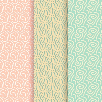 Rounded lines seamless pattern template
