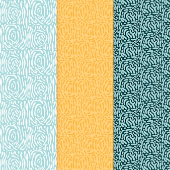 Rounded lines seamless pattern various colours
