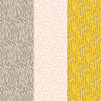Rounded lines seamless pattern warm colours and grey