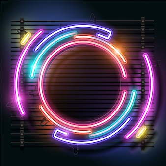 Rounded neon background