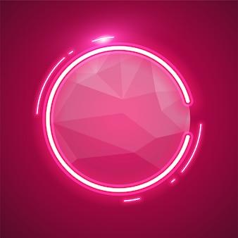 丸みを帯びたピンクのネオン