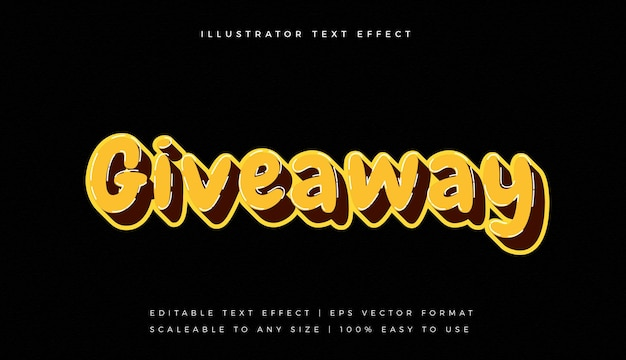 Rounded playful yellow text style font effect