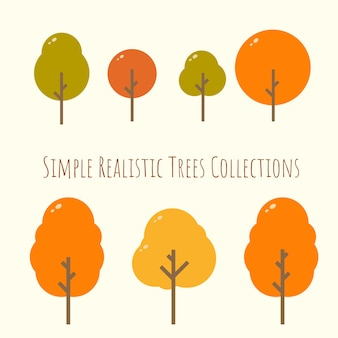 Rounded realistic autumn tree