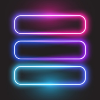 Rounded rectangle neon banner