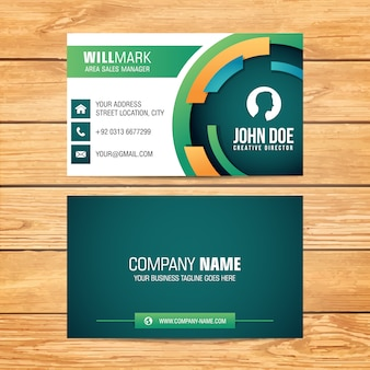 Rounded shape business card design