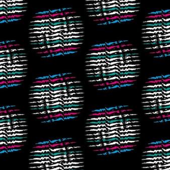 손으로 그린 선으로 만들어진 둥근 모양