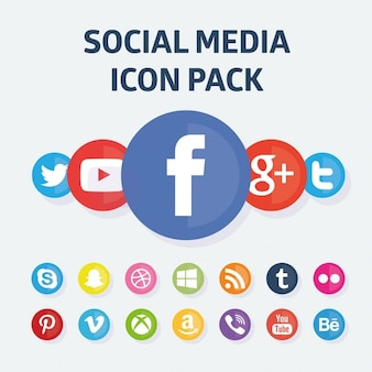 Rounded social media icon collection