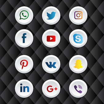 Rounded social media icon pack