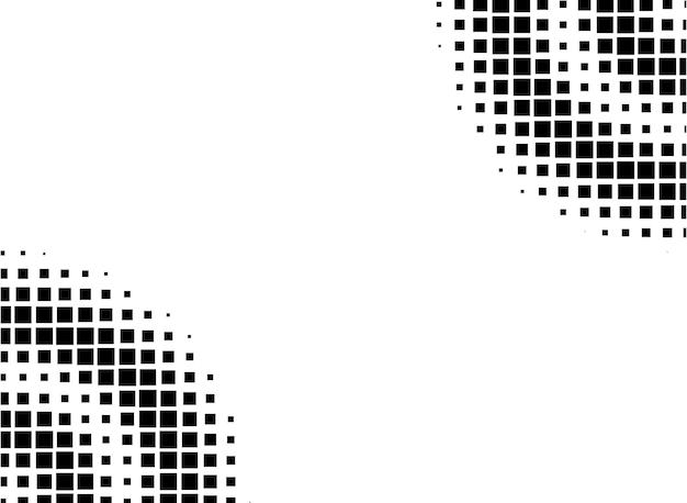 Rounded square shape geometric halftone background