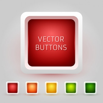 Rounded squared buttons collection
