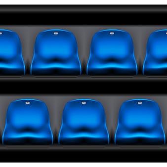 Row of plastic stadium seating - sport arena chairs