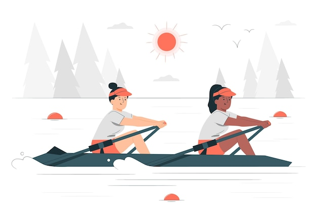 Rowingconcept illustration