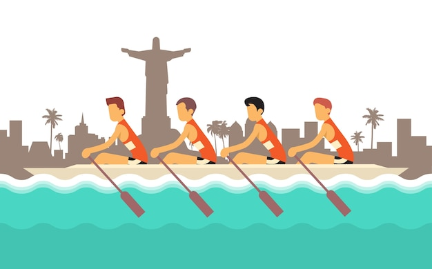 Rowing team sport competition