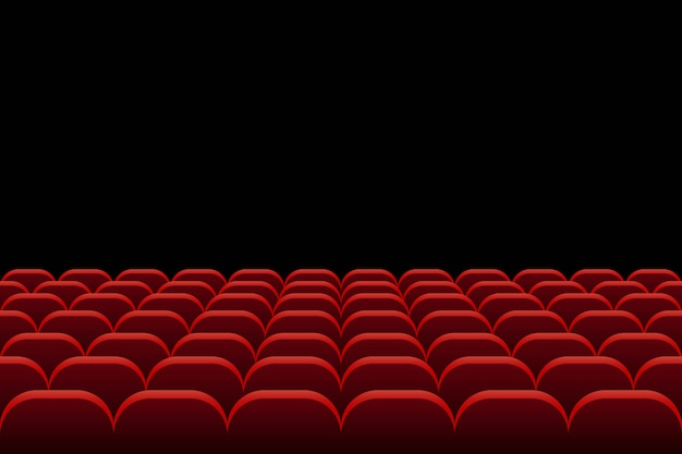 Rows of theatre and cinema seats illustration