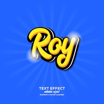 Roy simple text effect with modern script style