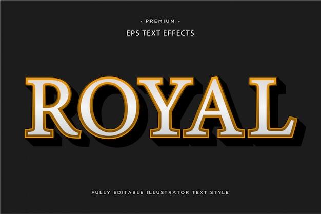 Royal 3d text effect
