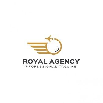 Royal agency logo template