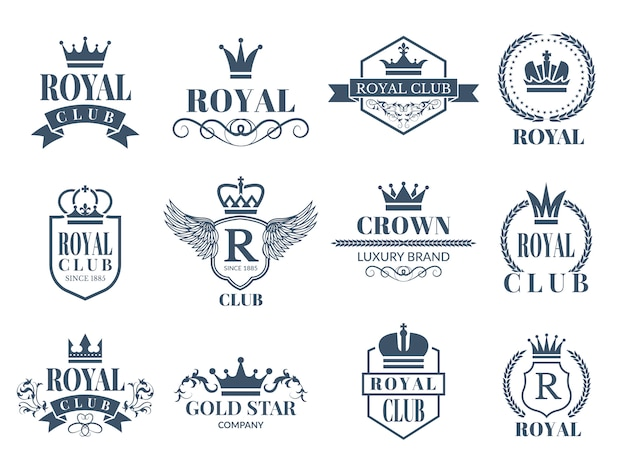 Набор королевских и роскошных значков
