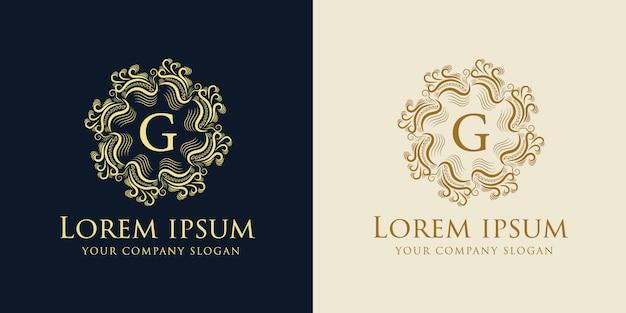 ロイヤルとラグジュアリーのロゴデザインテンプレート