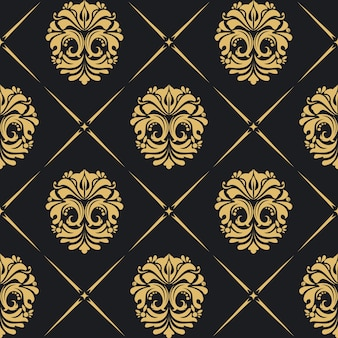 Royal background baroque with golden vintage elements.