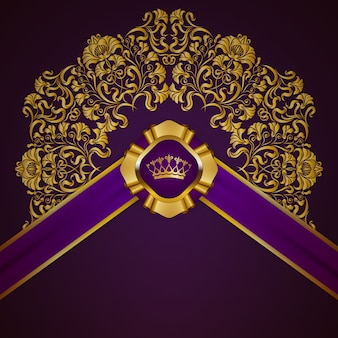 Royal background with ornament