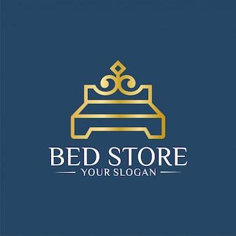 Шаблон дизайна логотипа royal bed