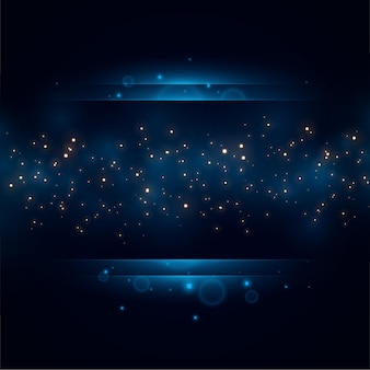 Royal blue golden sparkles background design