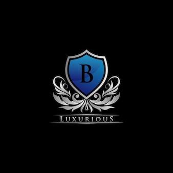 Royal blue shield logo