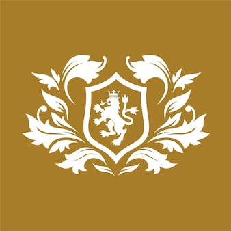 Royal brand and luxury logo design template
