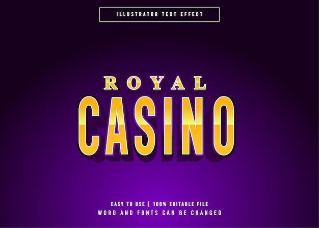 Royal casino golden gaming editable text effect