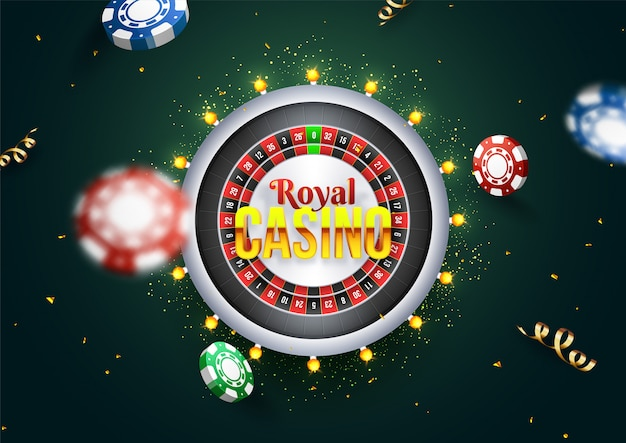 Royal casino text on roulette machine