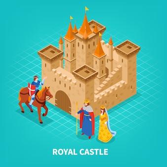 Composizione isometrica del castello reale