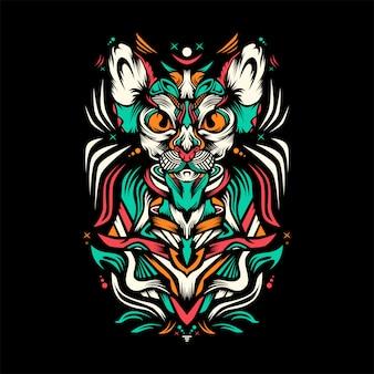 Royal cat  illustration