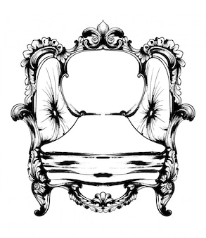Royal chair line art