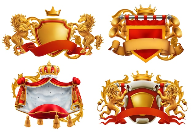 Royal coat of arms. king and kingdom.