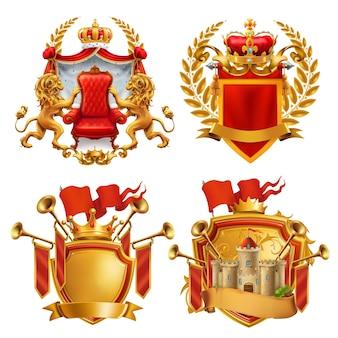 王室の紋章。王と王国。