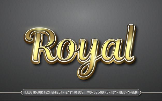 ロイヤル-編集可能なテキスト効果スタイル