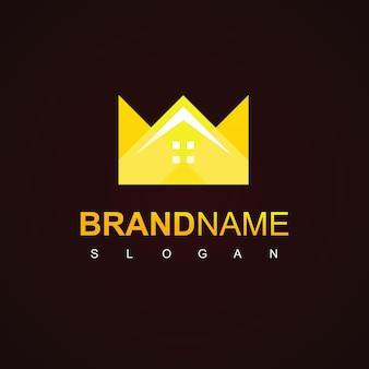 Royal estate logo with crown symbol