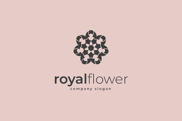 Королевский цветочный логотип