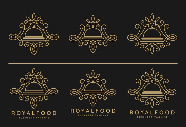 Royal food logo set